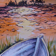 Sunset Dinghy Art Print
