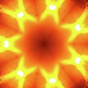 Sunset Firewheel Kaleidoscope Art Print