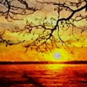 Sunset For Abigail Browne H B Art Print