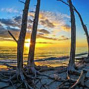 Sunset From Lovers Key, Florida Art Print