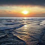 Sunset From Newport Beach Pier Art Print