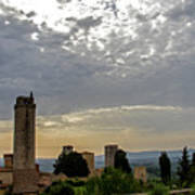 Sunset From San Gimignano Art Print