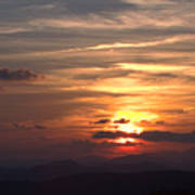 Sunset From The Blue Ridge Parkway Ll Art Print
