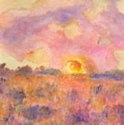 Sunset From The Road Art Print