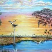 Sunset Gathering Art Print