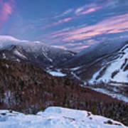 Sunset Glow Over Cannon Mountain Art Print