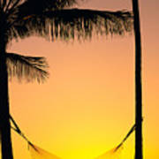 Sunset Hammock Art Print
