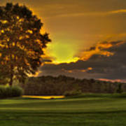 Sunset Hole In One The Landing Art Print