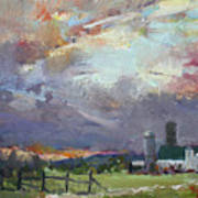 Sunset In A Troubled Weather Art Print