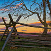 Sunset In Antietam Art Print