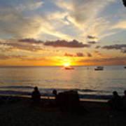 Sunset In Barbados Art Print