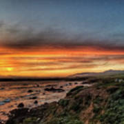Sunset In Cambria Art Print