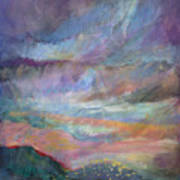 Sunset In Efrat Art Print by Bryna La