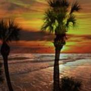 Sunset In Florida Art Print