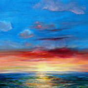 Sunset In Florida Key West. Art Print