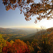 Sunset In Great Smoky Mountains Art Print