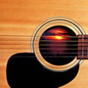 Sunset In Guitar Art Print