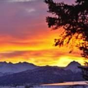 Sunset In Homer Alaska Art Print
