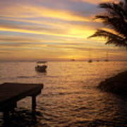 Sunset In Huahine Art Print