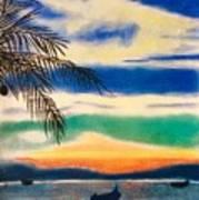 Sunset In Manuel Antonio  Art Print