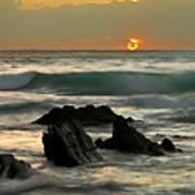 Sunset In Masua Beach Art Print