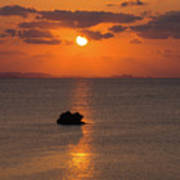 Sunset In Okinawa Art Print