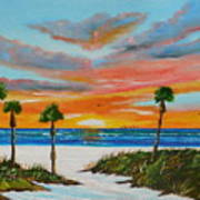 Sunset In Paradise Art Print by Lloyd Dobson