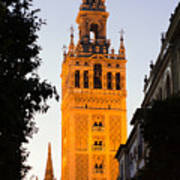 Sunset In Seville - A View Of The Giralda Art Print
