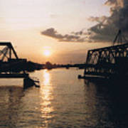 Sunset In Superior Wi Art Print