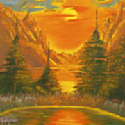 Sunset In The Canyon 1 Art Print