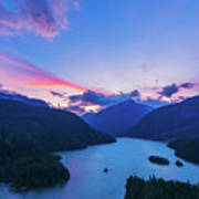 Sunset In The Diablo Lake, Wa Art Print
