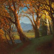 Sunset In The Nebraska Territory Art Print by Albert Bierstadt