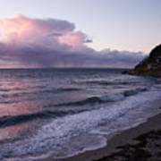 Sunset In The Ocean Art Print