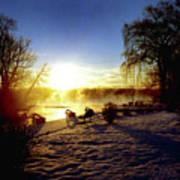Sunset In Winter Art Print