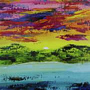 Sunset Island Art Print