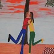 Sunset Kiss Art Print