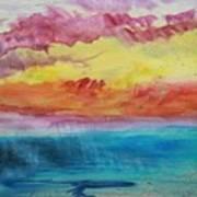 Sunset Lagoon Art Print