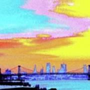 Sunset Lower Manhattan 2c5 Art Print