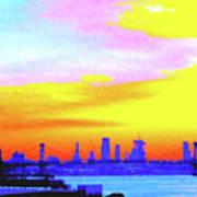 Sunset Lower Manhattan 2c3 Art Print