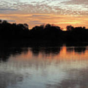 Sunset, Luangwa River, Zambia Art Print