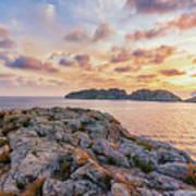 Sunset Malgrats Islands Art Print