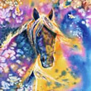 Sunset Mustang Art Print