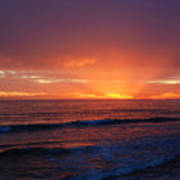 Sunset Near Carpinteria Art Print