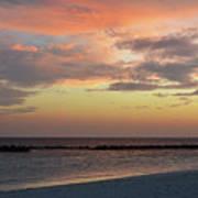 Sunset On An Idyllic Island In Maldives Art Print