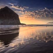 Sunset On Cannon Beach Art Print