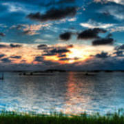 Sunset On Cedar Key Art Print