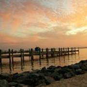 Sunset On Dewey Bay Art Print