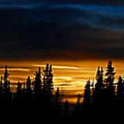 Sunset On Fairbanks - Alaska Art Print