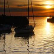Sunset On Fisherrow Art Print
