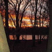 Sunset On Fox River Art Print